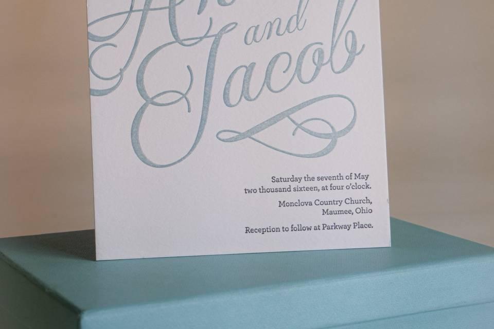 Ceremony card