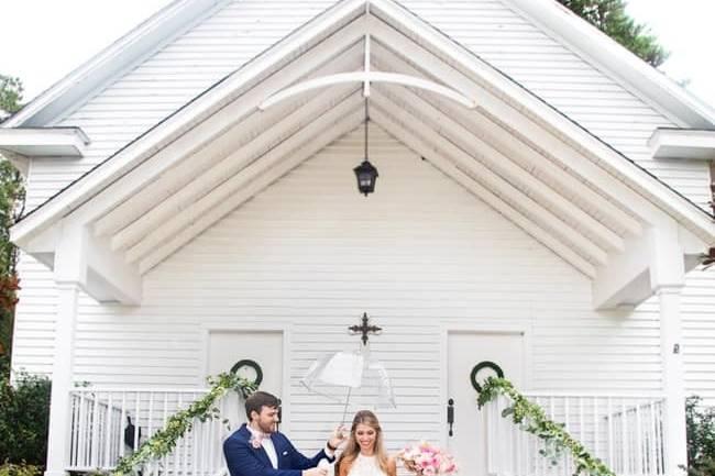 Couple at chapel