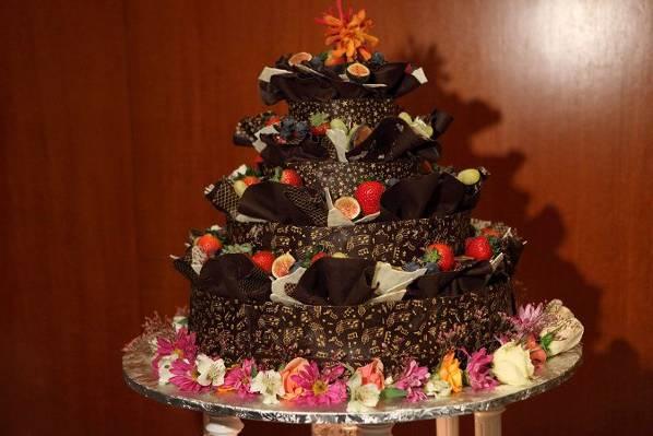 Fountain of Love Ruffle Cake