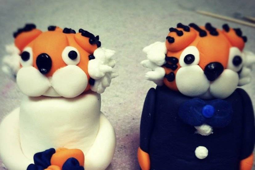 Tiger wedding toppers