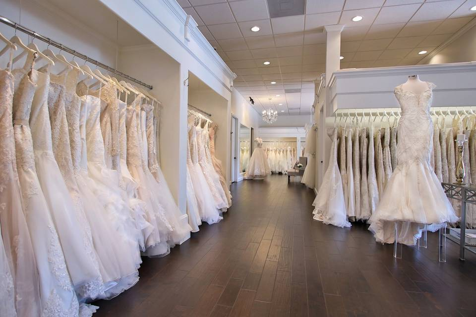 Rack of dresses