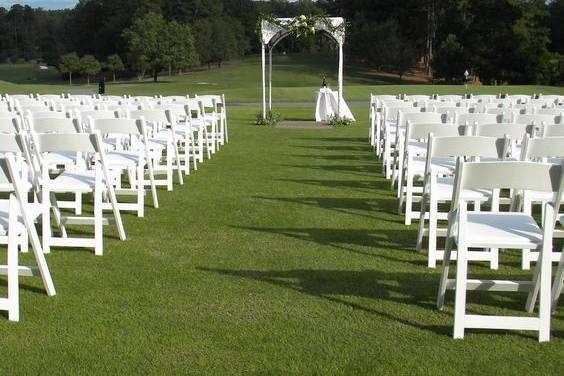 Open-air wedding