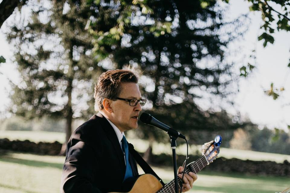 Singing for the Outdoor Ceremony