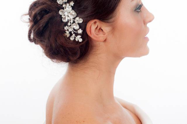 Classic vintage inspired wedding hair comb with Swarovski diamante crystals