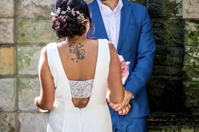 Happy newlywed