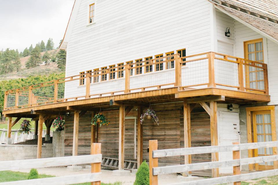 Wrap around deck at the barn