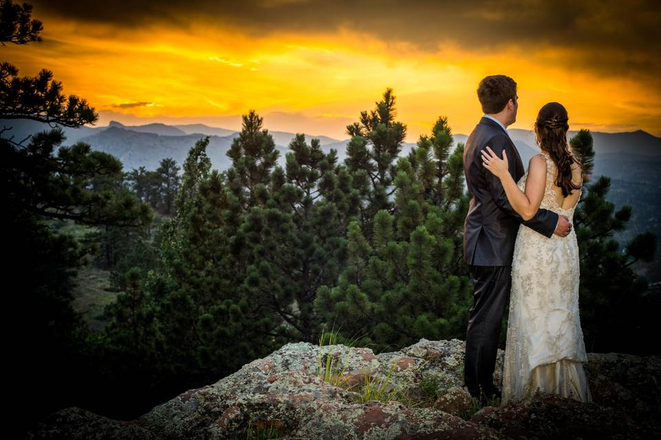 Colorado Sunset Mountain