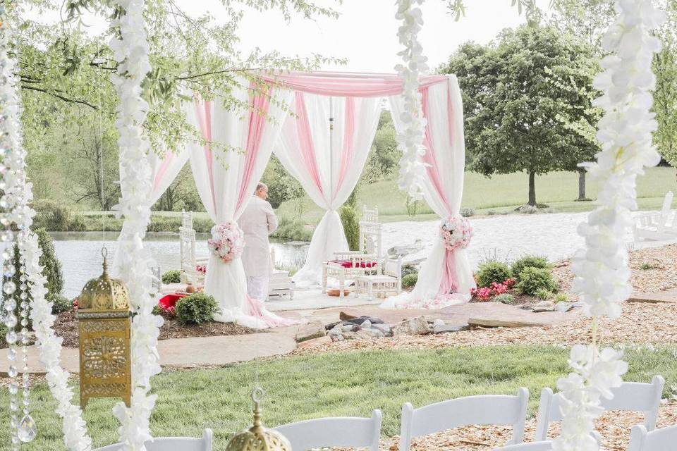 Wedding altar decor