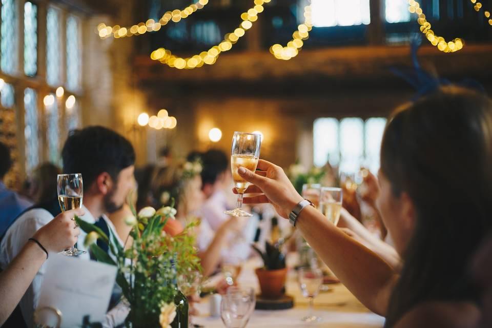 Reception venue toast