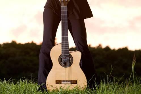 Guitarist outside