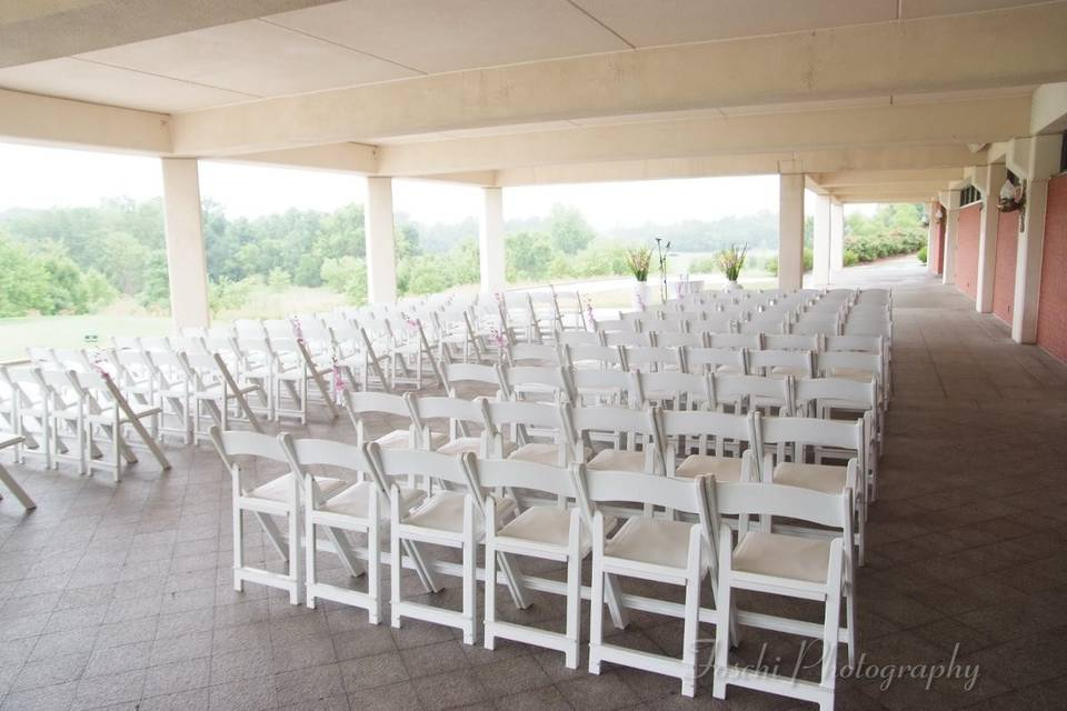 Terrace chair arrangement