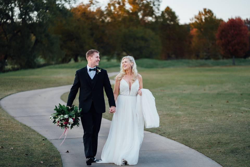 Wedding photos at golf course