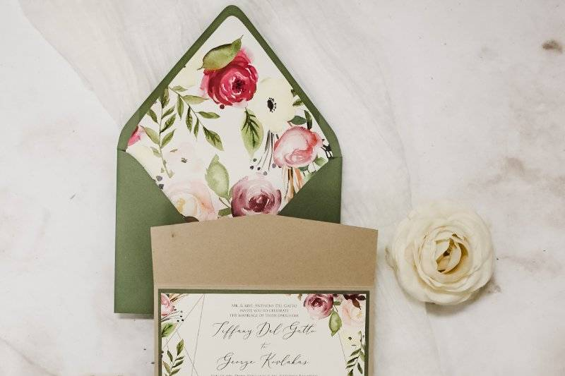 Glam and rustic florals