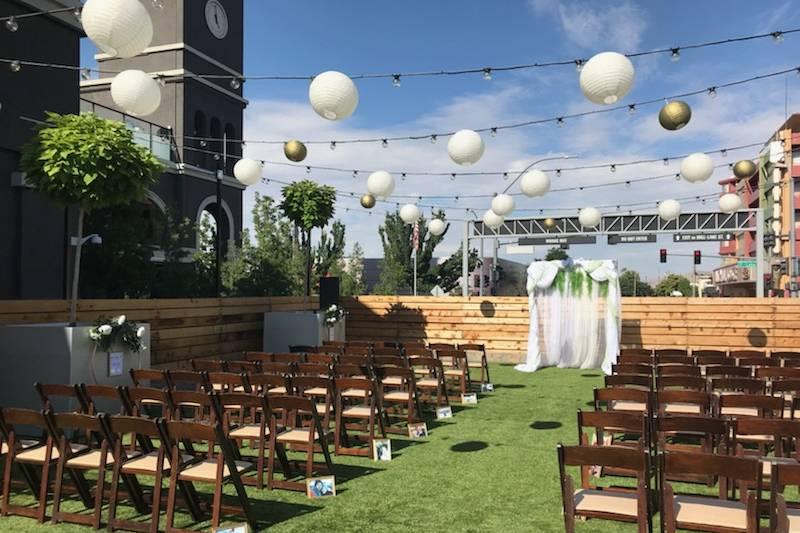 Bundox Bocce Lawn Ceremony