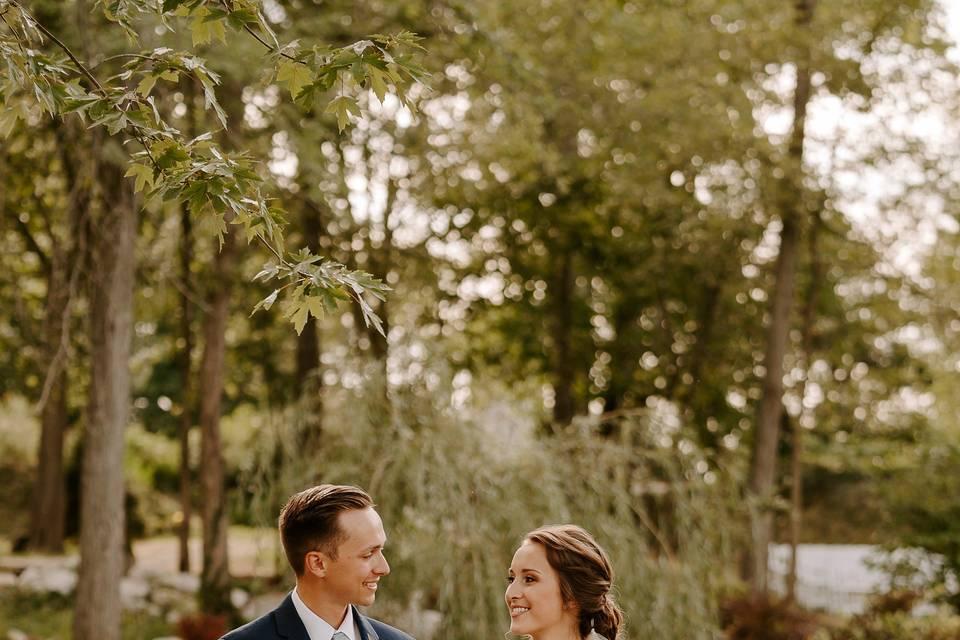 An idyllic wedding portrait