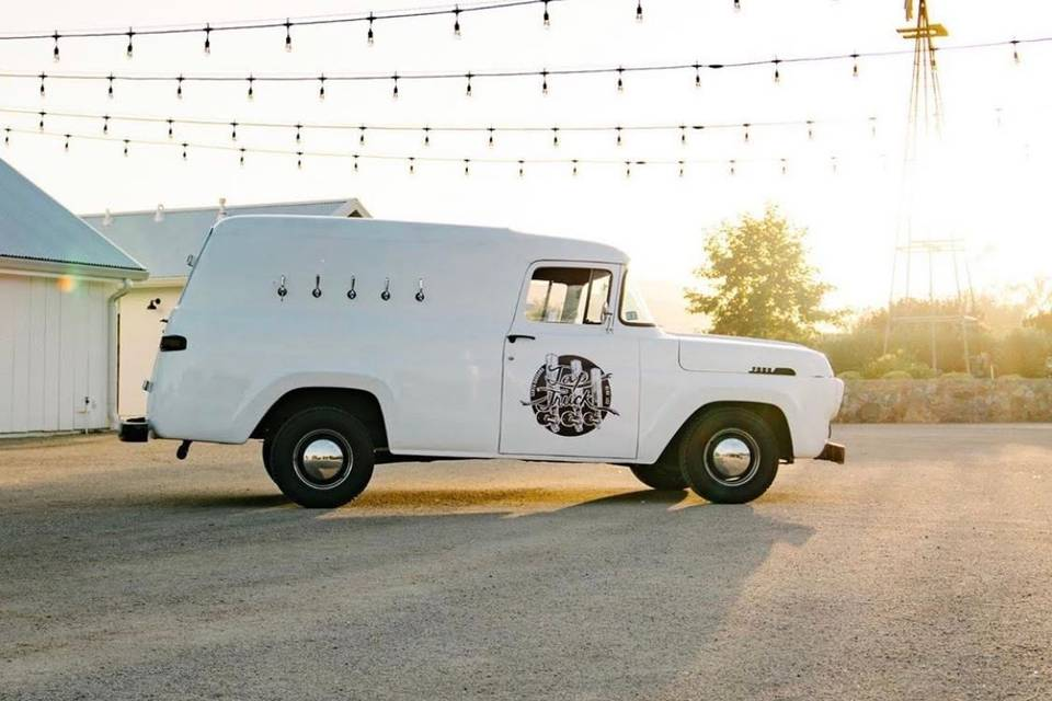 Perfect beer truck to party.