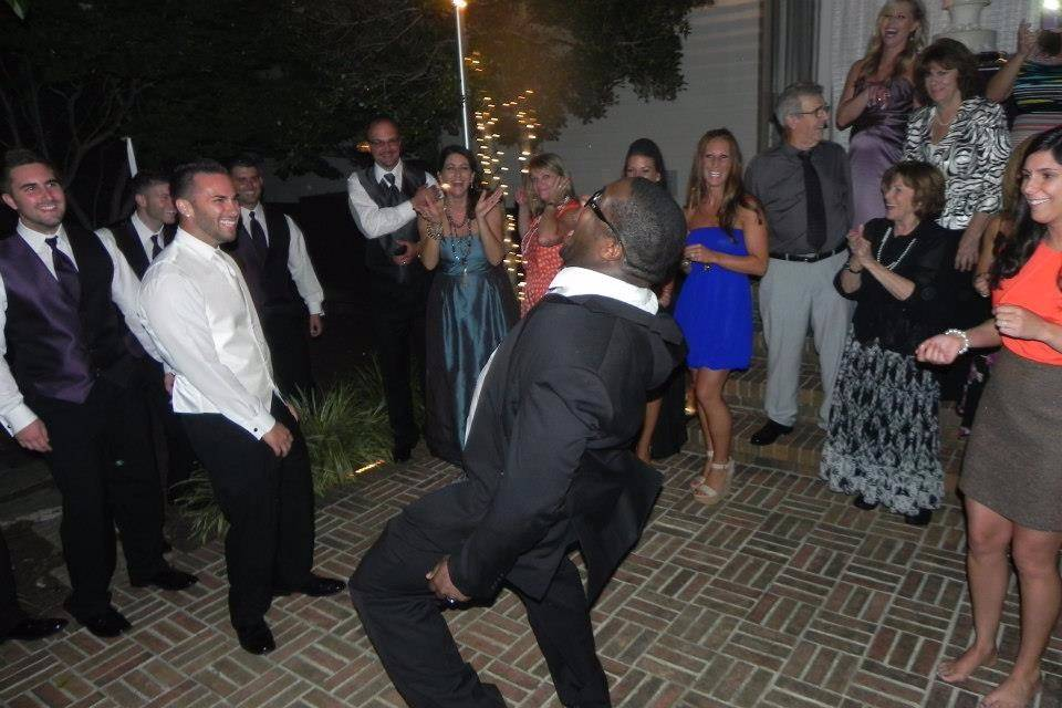 Dj on the dance floor