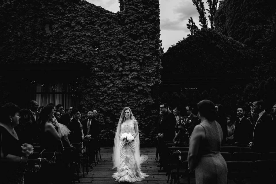 The bride in white