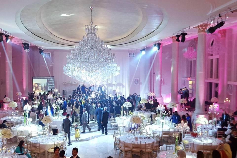 Reception space lighting