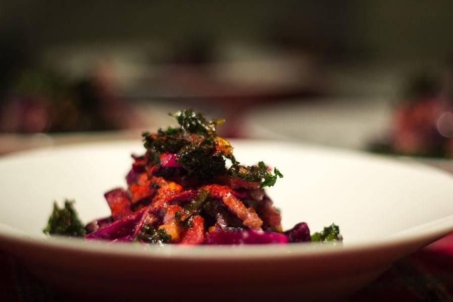 Fried Kale Salad