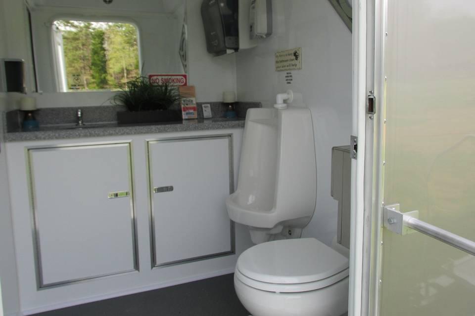 Urinal and wash area