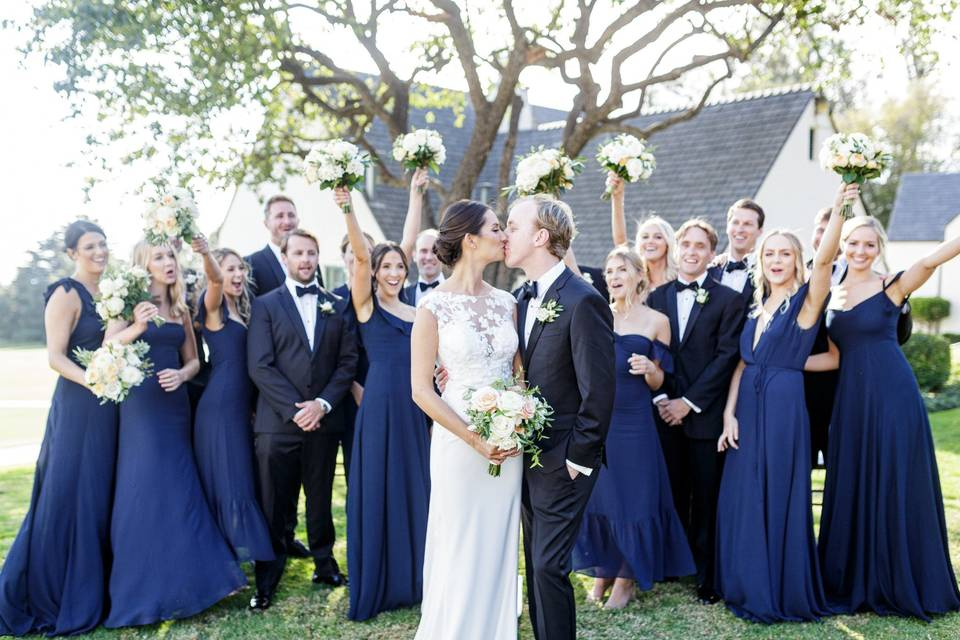 Bridal party in Montecito