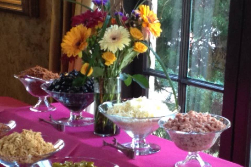 Hot pink table linen