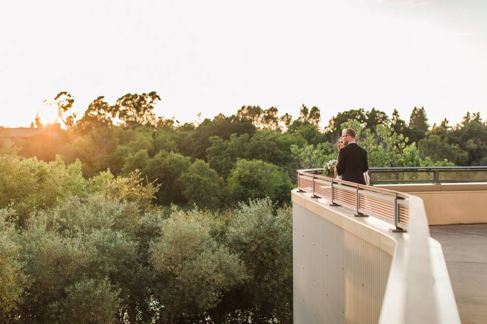 Overlooking the surroundings
