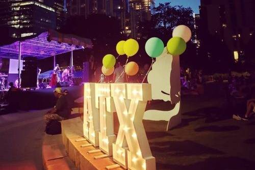 Lighted large marquee letters