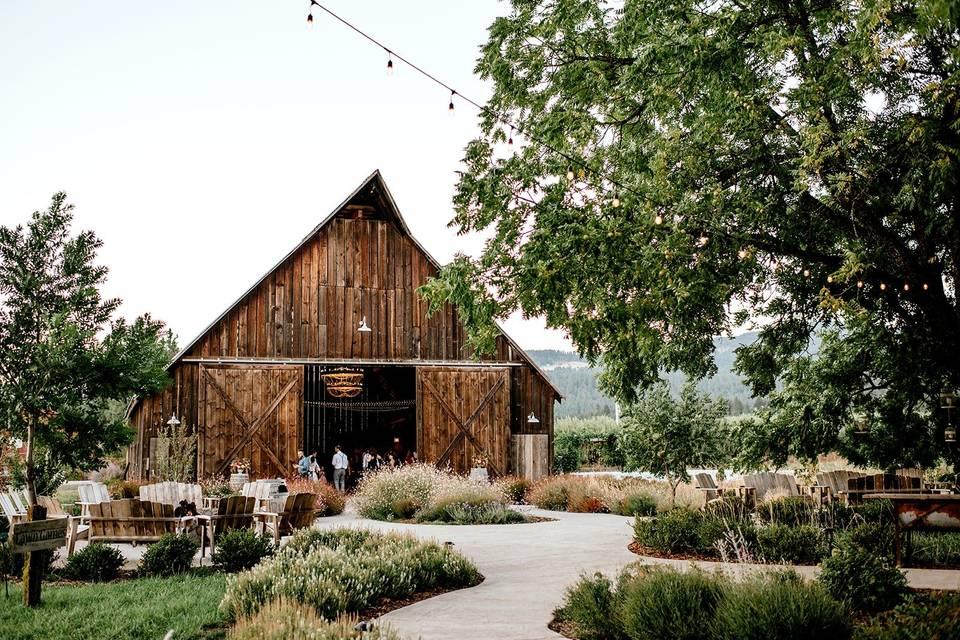 The barn courtyard