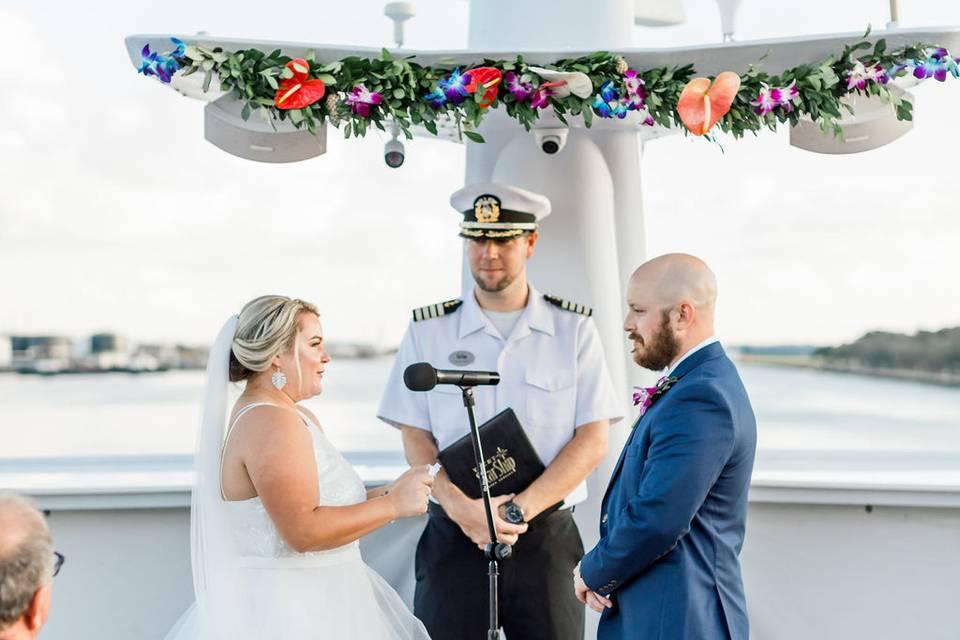Nautical-style wedding ceremonies