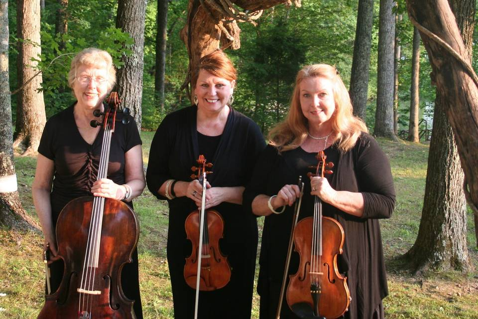The Harpeth Trio at a lovely outdoor wedding.