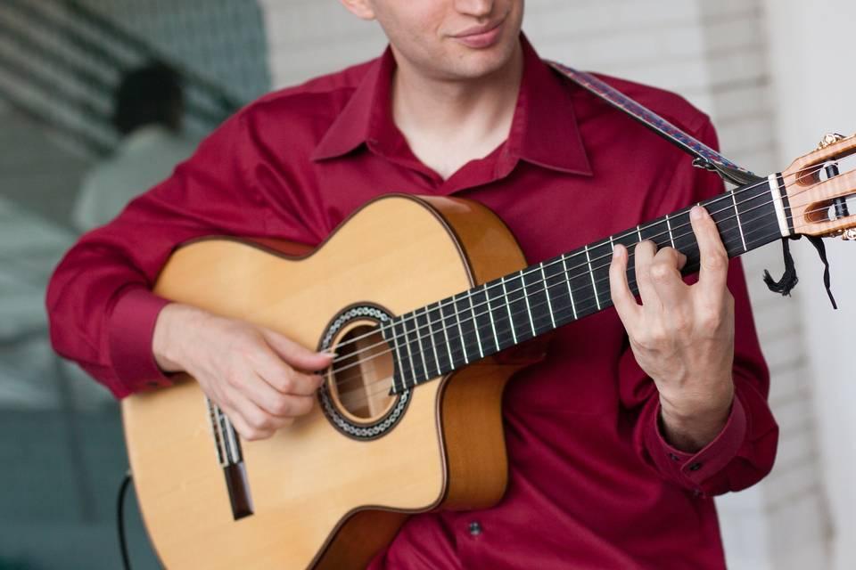 Jim Perona playing music
