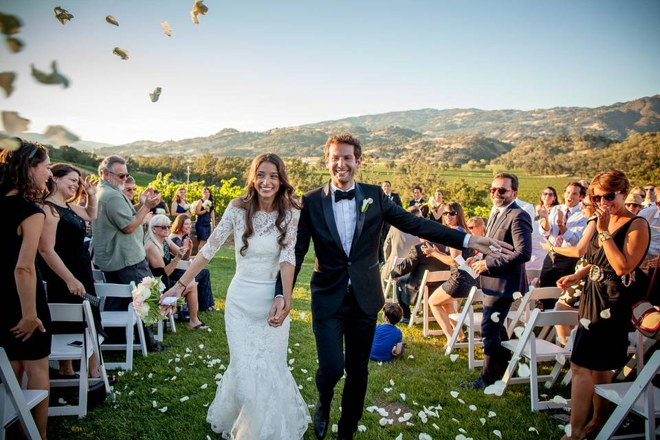 Mendocino Wedding Newlyweds