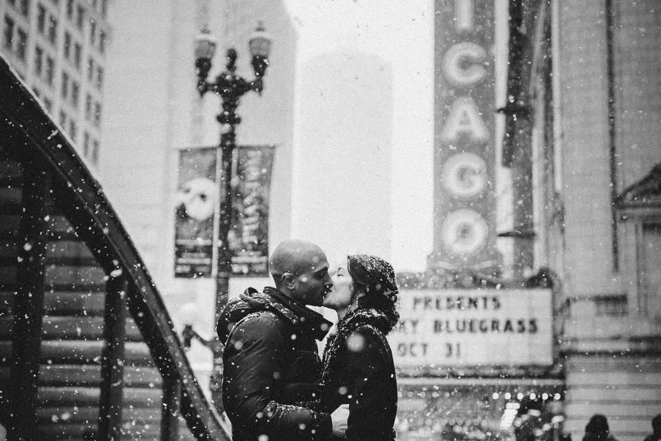 Snow Engagement - The Spragues