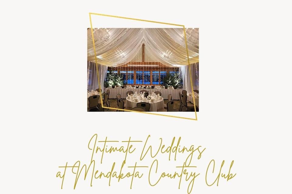 We do Small Weddings too!