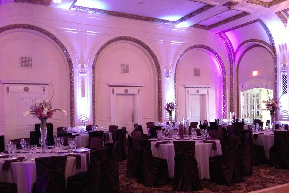 Reception lighting