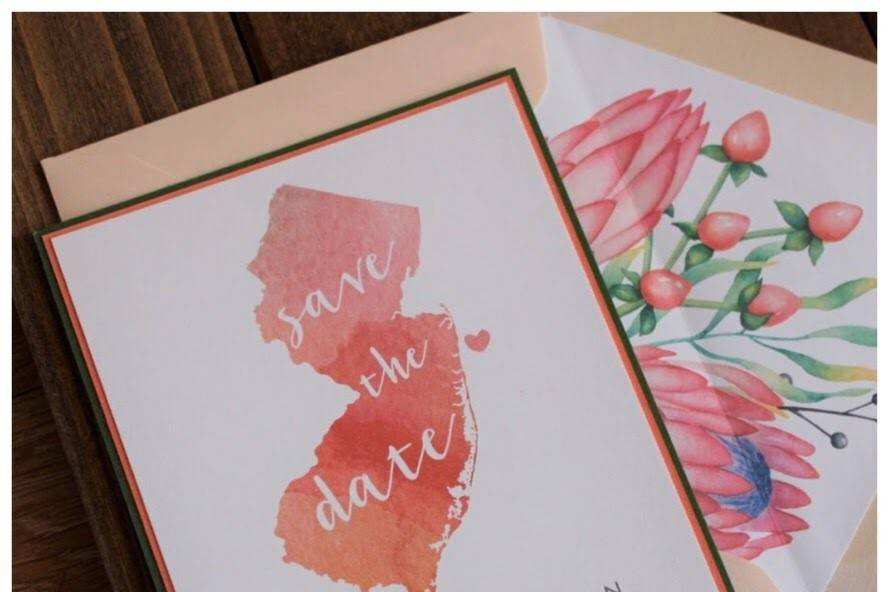 Watercolor NJ Save the Date