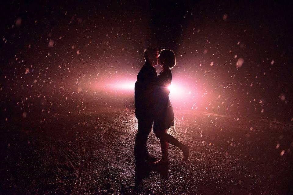 Dancing in snow