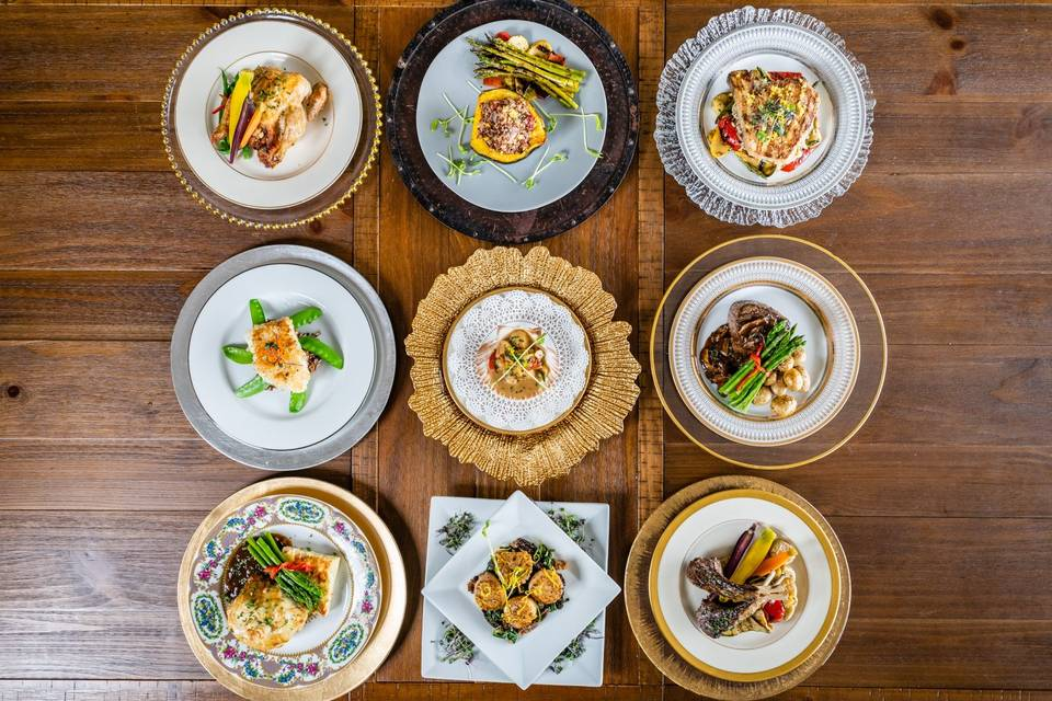 An array of delectable dishes