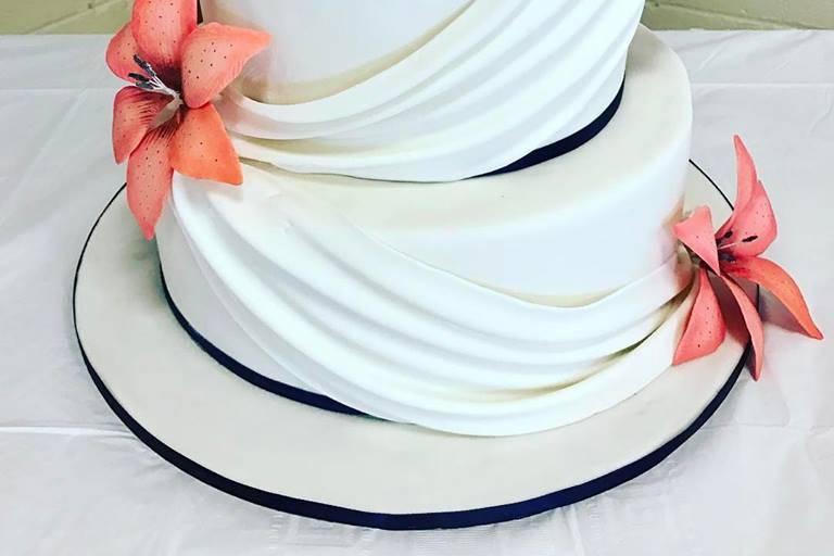 Beautiful draped cake