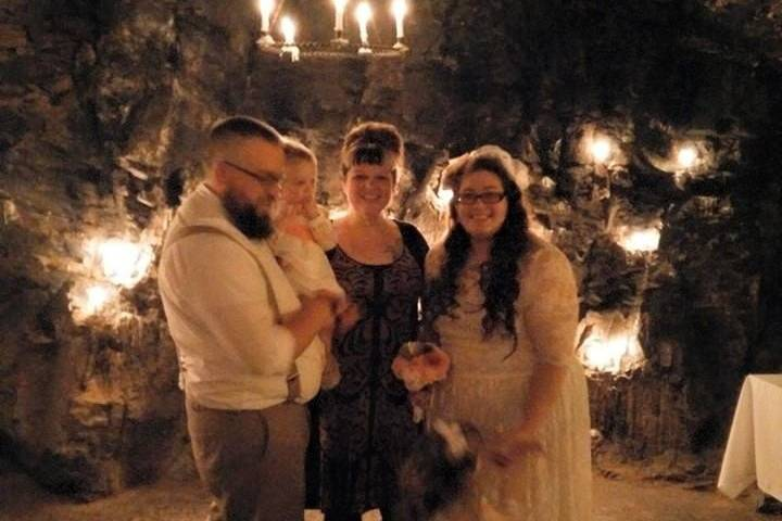 Family with the Officiant