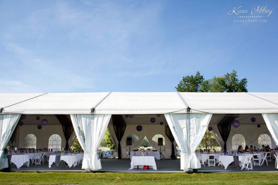 Big white tents