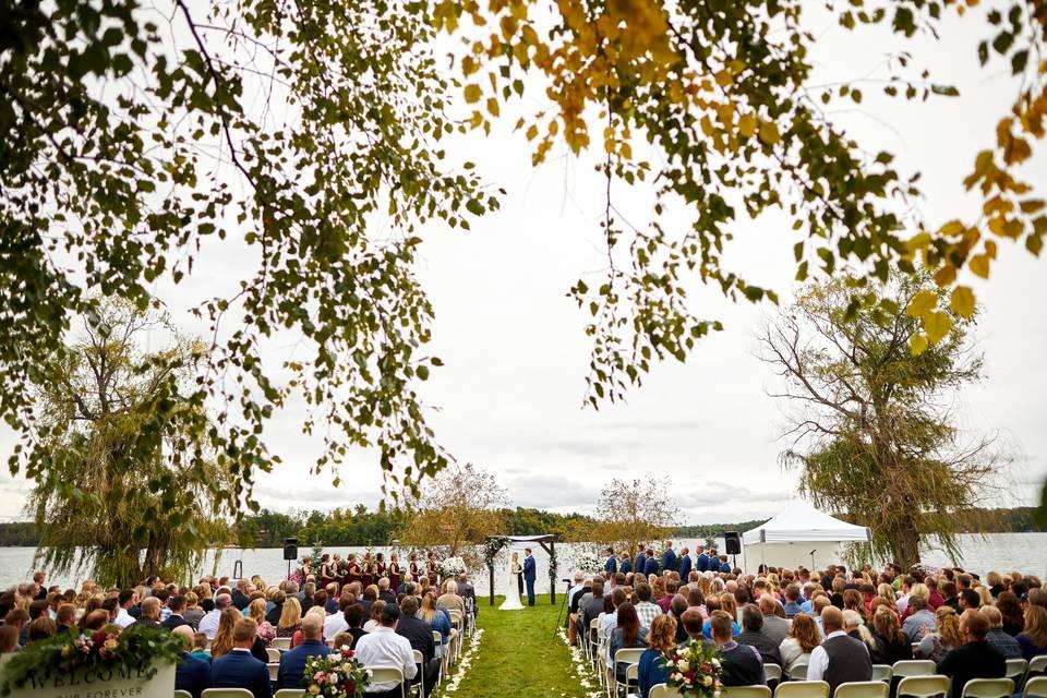 North Beach ceremony