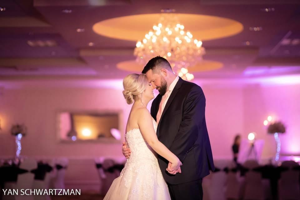 Newlyweds in Windsor Ballroom
