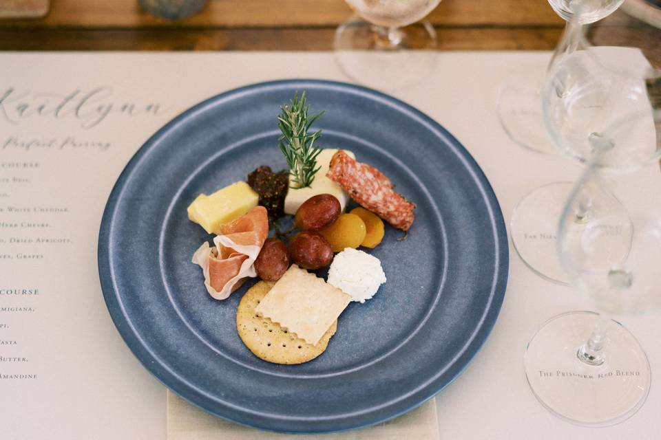 Individual charcuterie plates