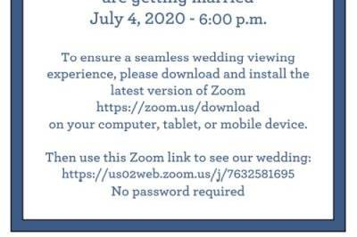 Invitation for virtual wedding
