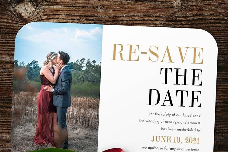New wedding date