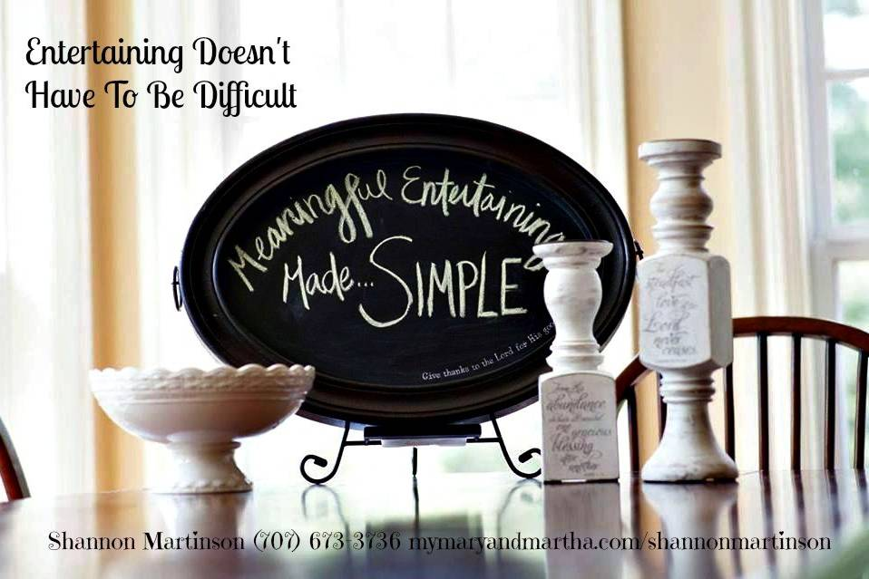 Shannon Martinson Mary & Martha Independent Consultant