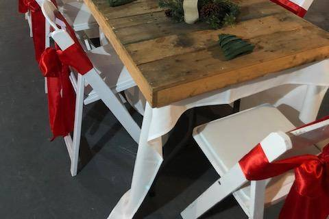 Wooden table tops at no charge